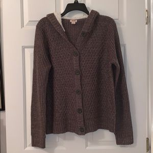 Mossimo button down hooded sweater XL